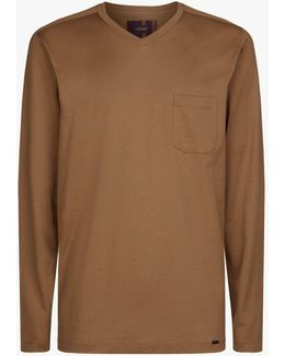 Long Sleeve Cotton Lounge Top