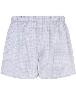 Woven Cotton Subtle Check Boxers