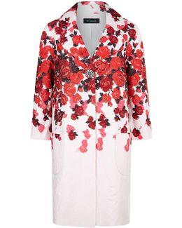 Eve Floral Jacquard Coat