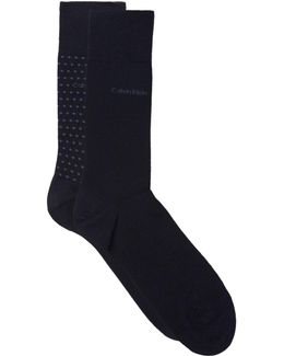 Assorted Cotton Socks (pack Of 2)