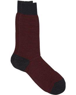 Merino Wool Herringbone Sock