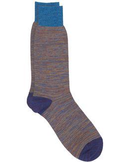 Egyptian Cotton Lisle Stripe Sock