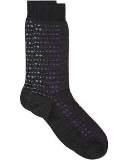 Goswell Gradient Spot Knitted Socks