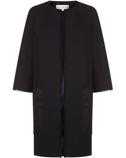 Fringe Trim Tailored Coat