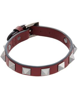 Leather Rockstud Bracelet