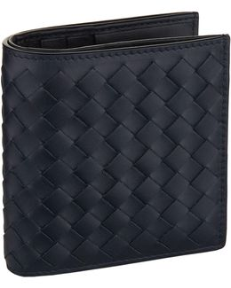 Intecciato Weave Leather Bifold Wallet