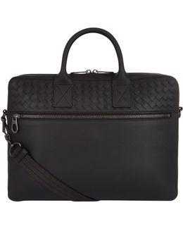 Matte Intrecciato Briefcase