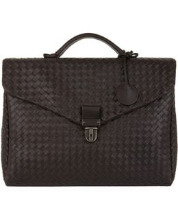 - Small Interlaced Briefcase - Men - Calf Leather - One Size