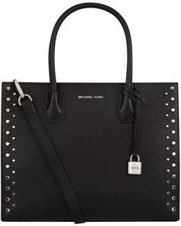 Large Mercer Stud Leather Tote Bag
