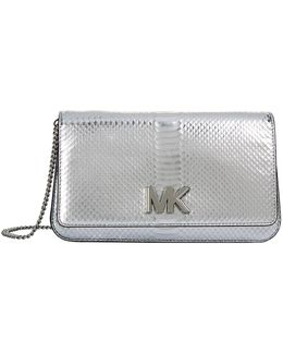 Large Mott Snakeskin Embossed Clutch