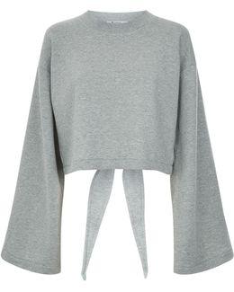 Tie Back Cropped Sweatshirt