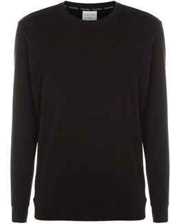 Embossed Logo Long Sleeve Lounge Top
