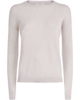 Destroyed Neck Cashmere Sweater