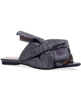 Glitter Bow Slippers
