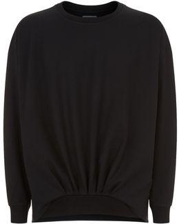 Ruched Sweatshirt
