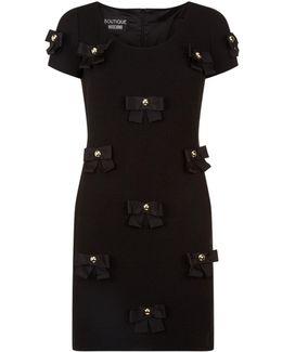 Bow Appliqu Bodycon Dress