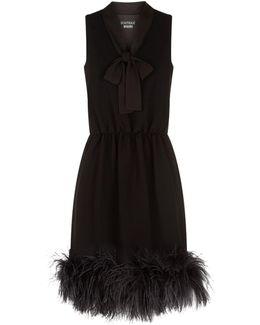 Ostritch Feather Trim Dress