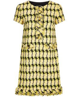 Shortsleeved Tweed Dress