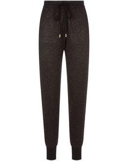 Lurex Cotton Knit Sweatpants