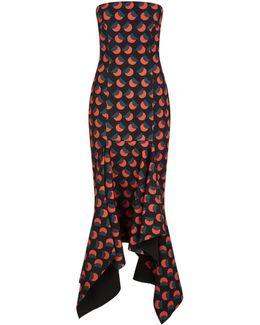 Veronique Handkerchief Hem Midi Dress