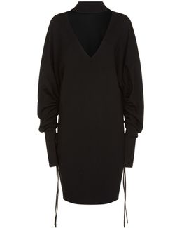 Ines Choker V-neck Midi Dress