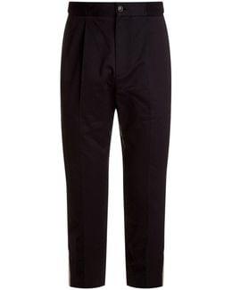 Webbed Stripe Casual Trousers