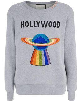 Hollywood Ufo Motif Sweatshirt