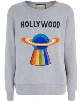 Hollywood Ufo Motif Sweatshirt