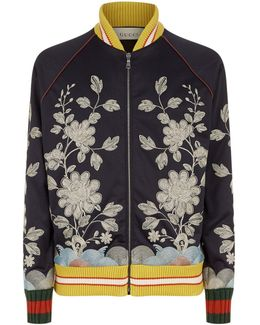 Oriental Embroidered Bomber Jacket