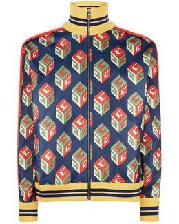 Gg Wallpaper Technical Jersey Jacket