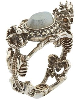 Skeleton King And Queen Labrodite Ring