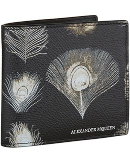 Peacock Feather Print Wallet