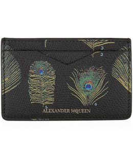 Feather Print Card Holder