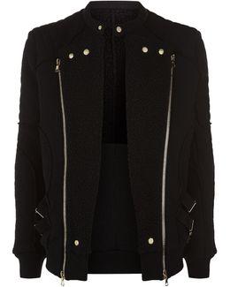Fleece Biker Jacket