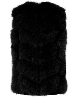 Suede Fox Fur Gilet