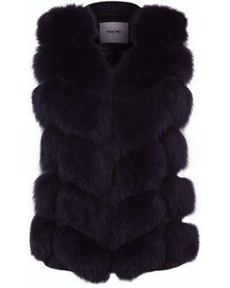 Fox Fur Panelled Gilet