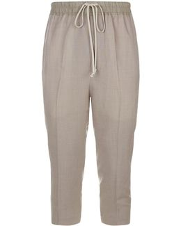 Cropped Casual Trousers