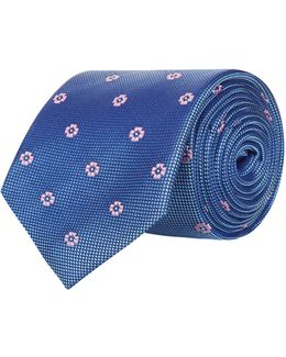 Micro Grid Floral Tie