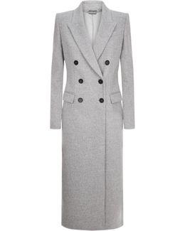 Longline Double Breasted Wool Coat
