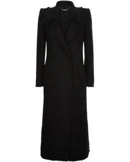 Frayed Hem Longline Coat