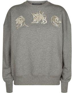 Embellished Mythical Creature Sweatshirt
