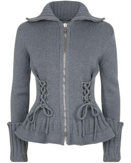 Lace-up Detail Cardigan