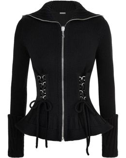 Knitted Zip-up Cardigan