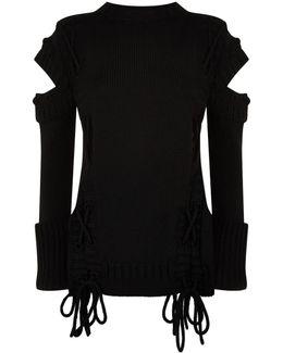 Slashed Shoulder Sweater