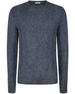 Ribbed Mohair Blend Sweater