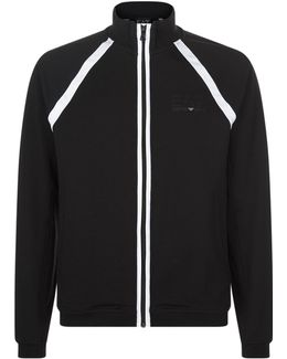 Contrast Stripe Zip-up Jacket