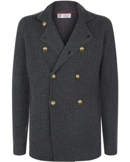 Double-breasted Cashmere Cardigan