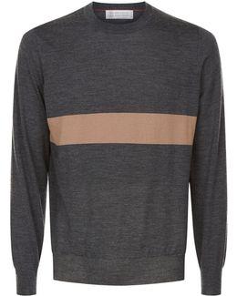 Contrast Stripe Sweater
