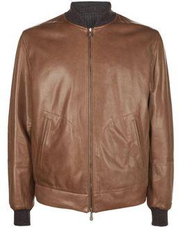 Reversible Leather Bomber Jacket