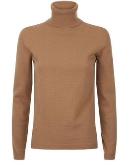 Wool-cashmere Roll Neck Jumper